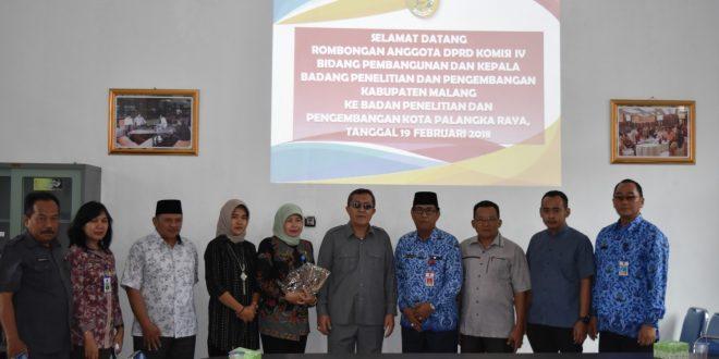 Balitbang Kota Palangka Raya Menerima Kunjungan Kerja Komisi IV (Bidang Pembangunan) DPRD Kabupaten Malang didampingi oleh Balitbang Kabupaten Malang