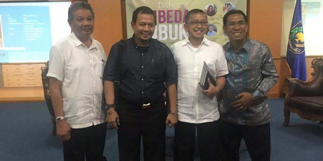H.M.Barit Rayanto, S.Sos.,M.Si. Kaban Balitbang Kota Palangka Raya, mengikuti Diskusi dan Bedah Buku di Aula BPP Kemendagri di Jakarta Rabu, 04 Oktober 2018