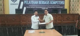 Pelatihan Berbasis Kopentensi dan Penandatangan Kerjasama BBPLKI Semarang Dengan  Dinas Tenaga Kerja Kota Palangka Raya, Pada Tanggal 23 Juli 2019 di Semarang